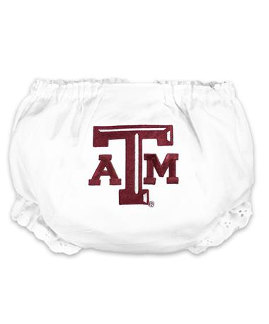 Texas A&M Eyelet Diaper Cover - Back Maroon - Texas AM