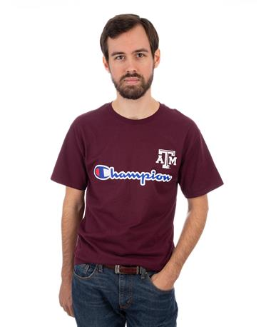 Champion Texas A&M Ring Spun Tee - Maroon - Front Maroon