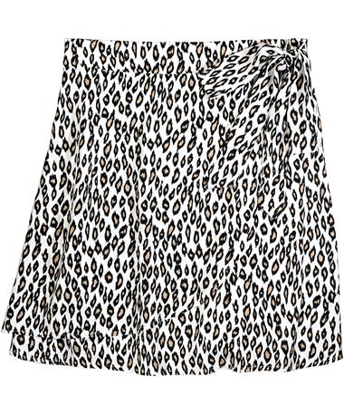 Faux Wrap Cheetah Skirt - Front Cheetah/ aimee