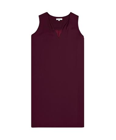Maroon Classic Sleeveless Dress - Front Maroon