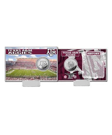Texas A&M Stadium History Coin Card Silver