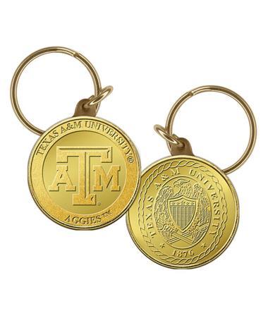 Texas A&M Bronze Coin Key Chain Gold