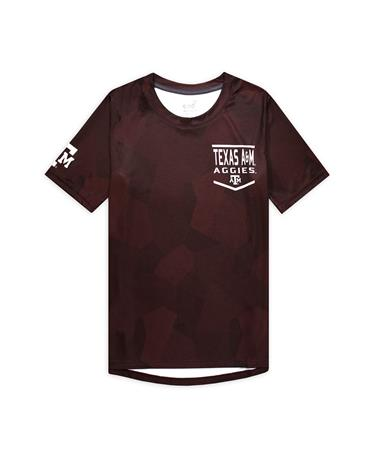 Texas A&M Aggies Youth Sublimated Dri-Tek Tee - Maroon - Front Maroon