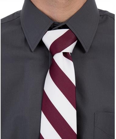 Maroon and White Tie Maroon/White