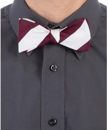 Maroon & White Bow Tie Maroon/White
