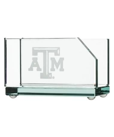 Campus Crystal Texas A&M Business Card Holder - Front Clear