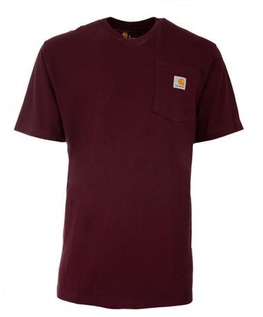 Maroon Carhartt Original Fit T-Shirt - Front Maroon