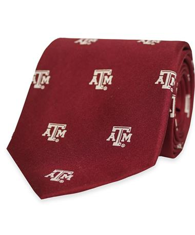 Texas A&M Prep Repeat Pattern Tie Maroon/White