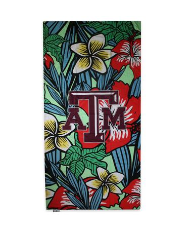 Texas A&M Polynesian Beach Towel - Front Multi