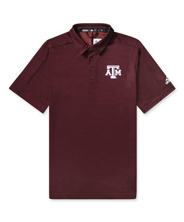 Texas A&M Adidas Game Mode Polo - Maroon - Front Maroon