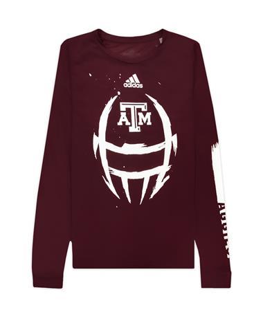 Texas A&M Adidas Locker Football Helmet Creator Long Sleeve