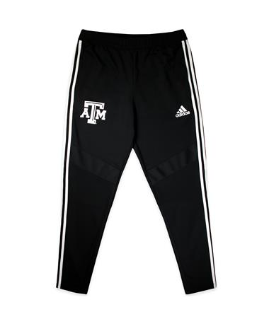 Texas A&M Adidas Men`s Tiro Training Pants - Black - Front Black