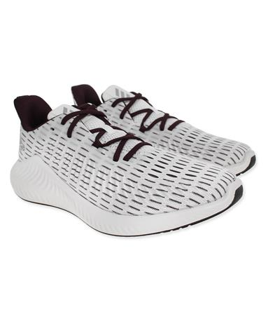 Adidas Alphabounce+ Running Shoes - Pair White/Maroon
