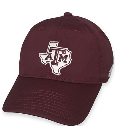 Texas A&M Adidas Coaches Lonestar Cap Maroon/White