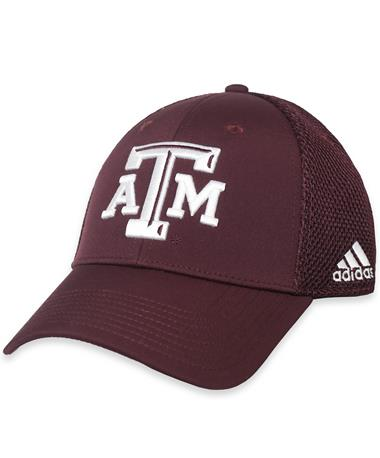 Texas A&M Adidas Structured Coaches Cap Maroon/White