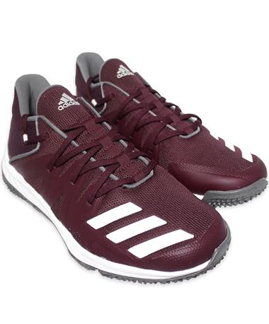 Maroon Adidas Speed Turf Shoes - Angled Maroon/White
