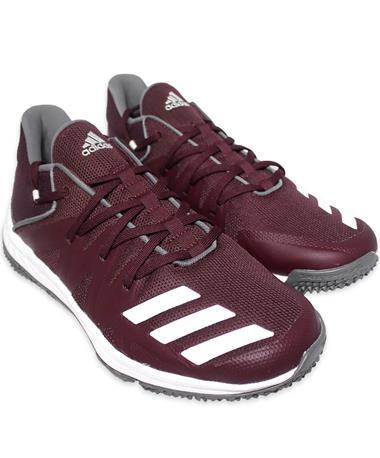 Maroon Adidas Speed Turf Shoes - Angled Maroon/White