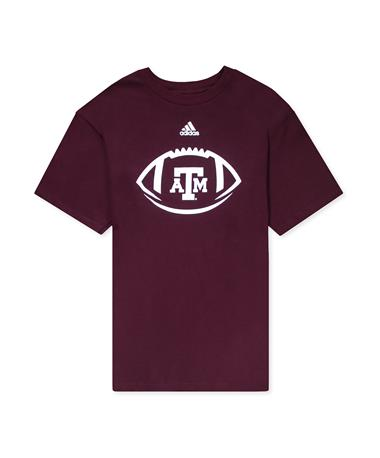 Texas A&M Locker Football Icon Amplifier SS Tee-front Maroon