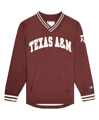 Texas A&M Champion Men`s Scout Jacket - Front Maroon