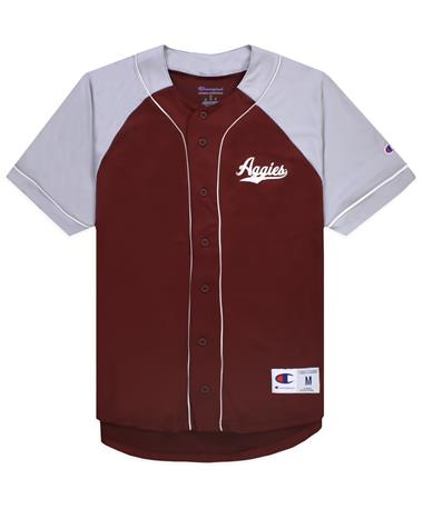 Texas A&M Champion Baseball Jersey Maroon/Grey