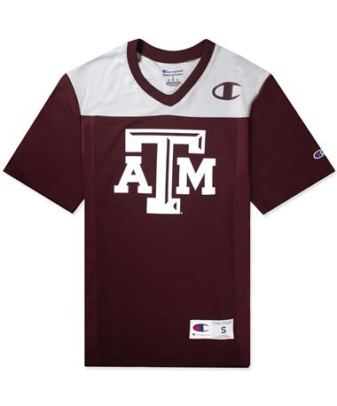 Texas A&M Champion Men`s Football Jersey - Maroon/Grey - Front Maroon/Grey