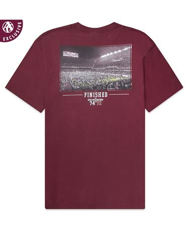 Texas A&M The Field Victory T-Shirt - Back Maroon AH SS Pocket