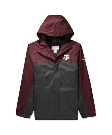 Texas A&M Columbia Glennaker Storm Jacket - Front Deep Maroon/ Dark Grey