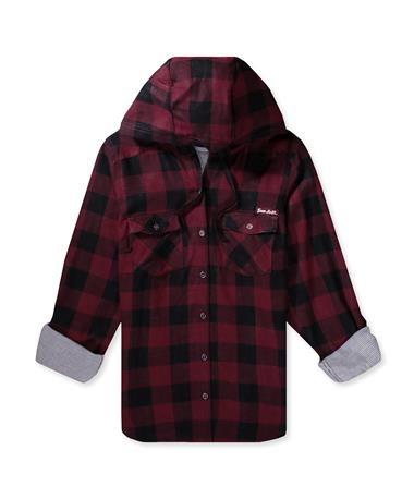 Texas AM  Columbia Women`s Times Two Hoodie-Front Deep Maroon Check