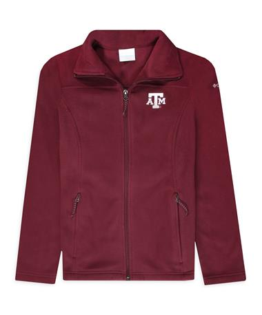 Texas A&M Columbia Women`s G&G Jacket - Front Deep Maroon