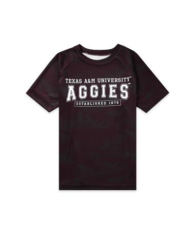 Texas A&M Garb Hayes Toddler Camo Tee - Maroon - Front Maroon