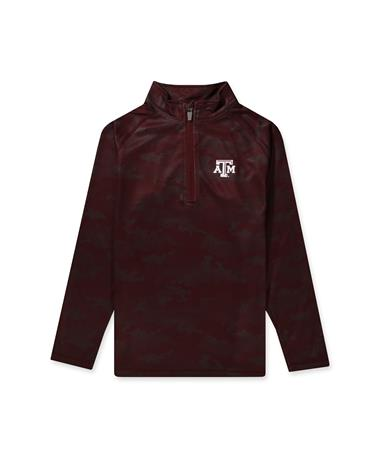 Texas A&M Ty Toddler Brushed Camo 1/4 Zip Maroon