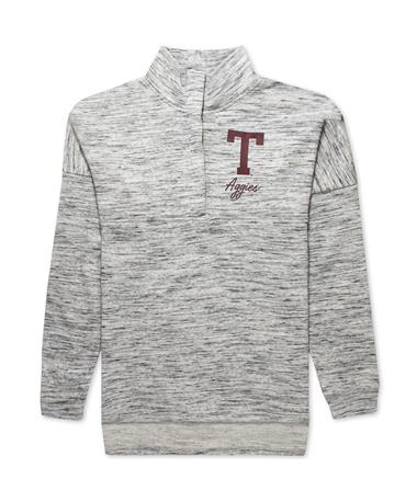 Texas A&M 47 Women`s Haze Pullover-Front Grey