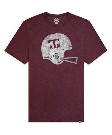 Texas A&M `47 Brand Grit Scrum T-Shirt - Maroon - Front Maroon