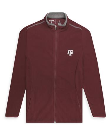 Texas A&M Glacier Women`s Full Zip Maroon/ Carbon