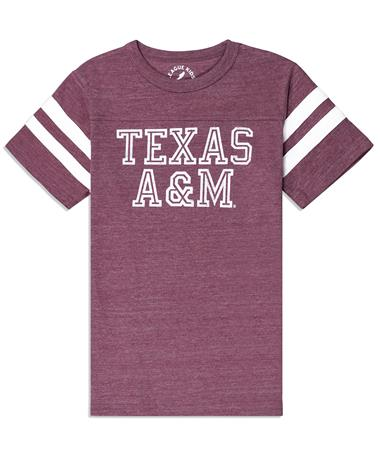 Texas A&M League Boys Scrimmage Tee - Front Maroon