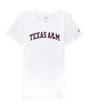 Texas A&M League Women`s Freshy Tee - Front White