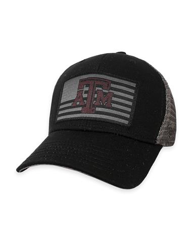 Texas A&M Back The Flag Youth Snapback Cap - Charcoal/ Black - Front Charcoal/ Black