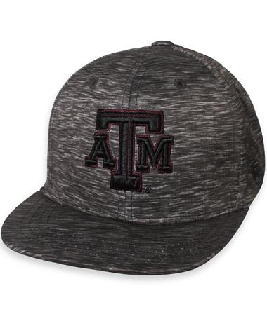 Texas A&M Gritty Fitted Cap Heather Black