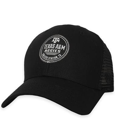 Texas A&M Aggies ZigZag Adjustable Snapback - Black - Front Black