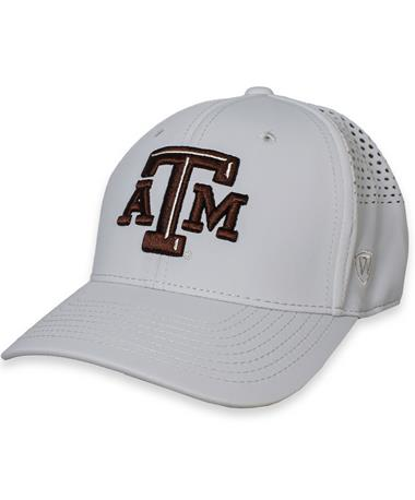 Texas A&M Tower Fitted Grey Hat Lt Grey