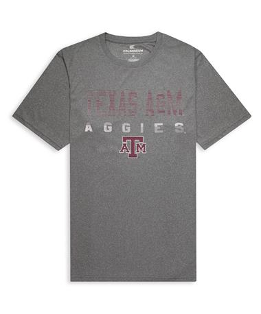 Texas A&M Aggies Colosseum Flanders Performance Tee - Heather Charcoal - Front Heather Charcoal