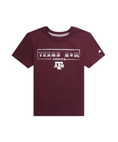 Texas A&M Aggies His Skill Toddler Tee - Maroon - Front Maroon