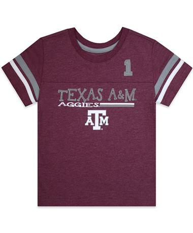 Texas A&M Boone Toddler Boys Tee - Front Maroon