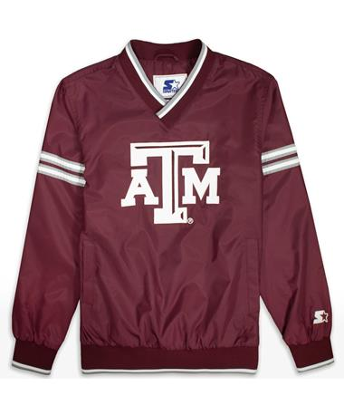 Texas A&M Gameday Trainer II V-Neck Pullover - Front Maroon