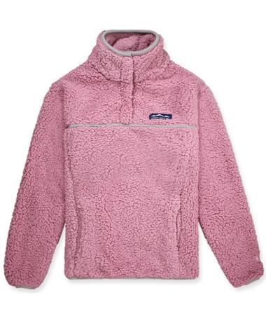 Lauren James Pink Alpine Sherpa Pullover