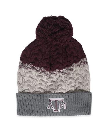 Texas A&M Disperse Combo Winter Accessories-Front Maroon/Grey