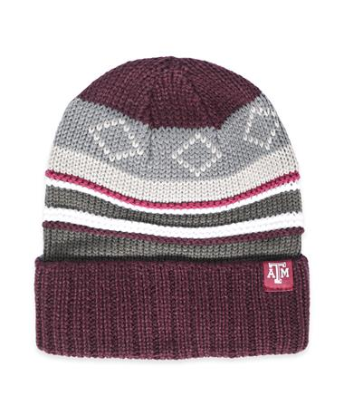 Texas A&M Numb Combo Winter Accessories-Front Maroon/White