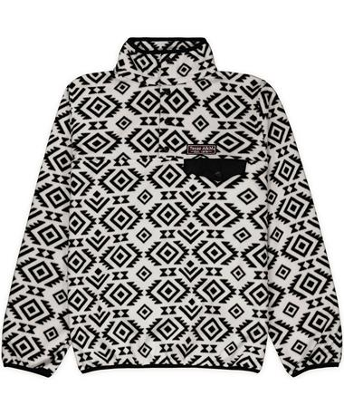 Texas A&M Patterned Snap Placket Fleece - Front White Tribal