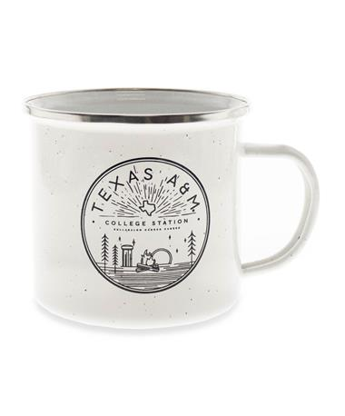 Texas A&M Stainless Santa Fe Festival Cup-Front White