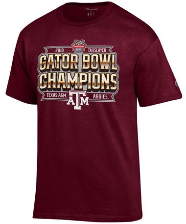 Texas A&M Bowl Champions T-Shirt Maroon